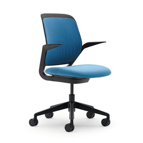 Pool Blue Cobi Desk Chair, Black Frame